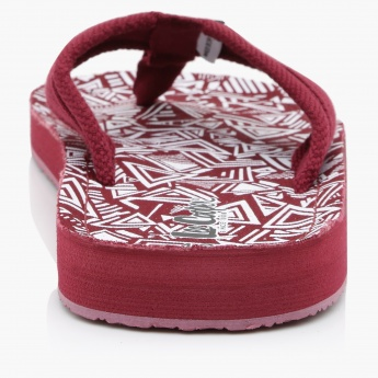 Lee Cooper Printed Thong Slippers