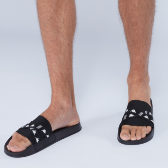 Kappa Textured Slides with Elasticised Cross Straps