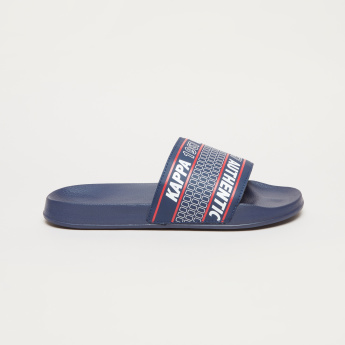 Kappa Textured Slides with Printed Straps