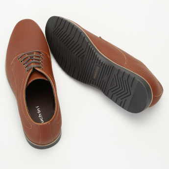 Duchini Derby Shoes with Lace Up Closure