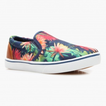 Lee Cooper Floral Print Canvas Shoes