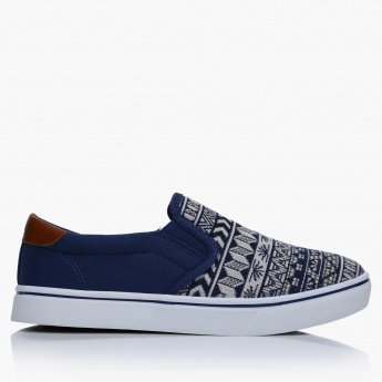 Lee Cooper Printed Slip-On Shoes with Elasticised Gussets
