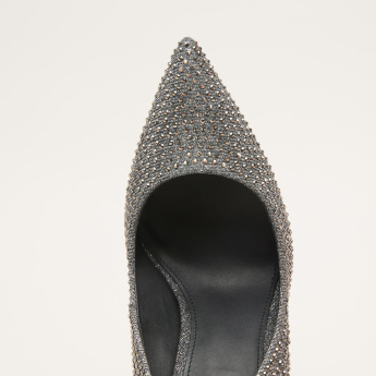 STEVE MADDEN Embellished Slip-On Stiletto Heel Pumps