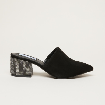 STEVE MADDEN Slip-On Mules with Mid Block Heels