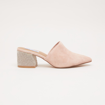 793e5b02c9 STEVE MADDEN Slip-On Mules with Mid Block Heels | Pink | Mules