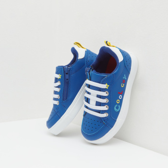 Low Top Sneakers with Embroidery