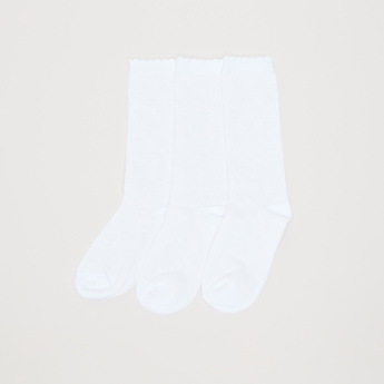 Textured Crew Length Socks - Set of 3