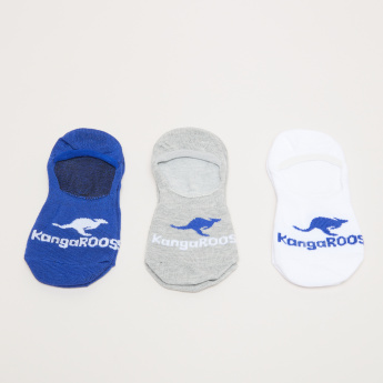KangaROOS No Show Socks with Logo Print Detail - Set of 3