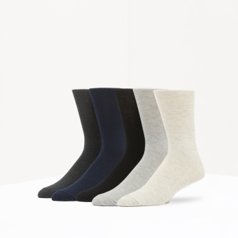 Calf-Length Socks - Set of 5