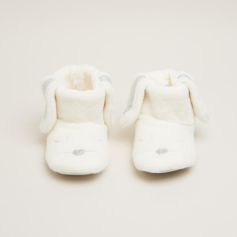 Plush High Top Shoes with Ear Applique