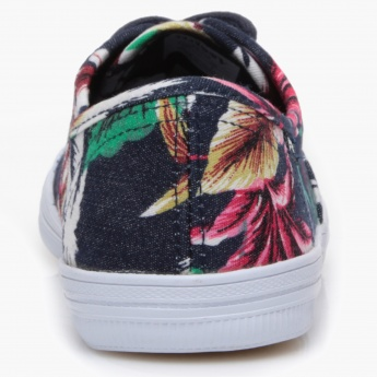 Missy Floral Lace-Up Sneakers