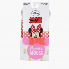 Minnie Mouse Printed Tights with Elasticised Waistband