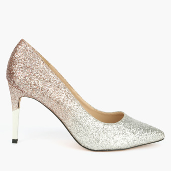 Celeste Textured Stilettos Slip-On Shoes