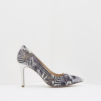 ELLE Floral Printed Formal Stilettos
