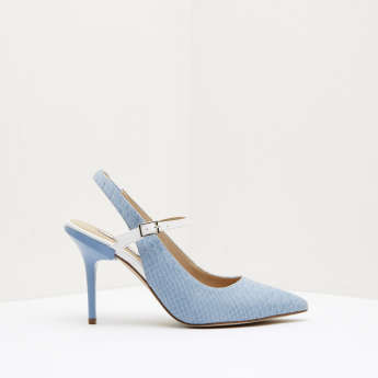 ELLE Textured Sling Back Shoes