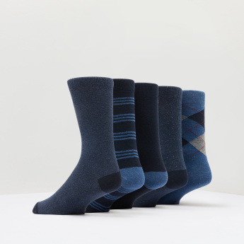 Duchini Assorted Crew Length Socks - Set of 5