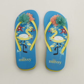 Little Missy Printed Flip Flops
