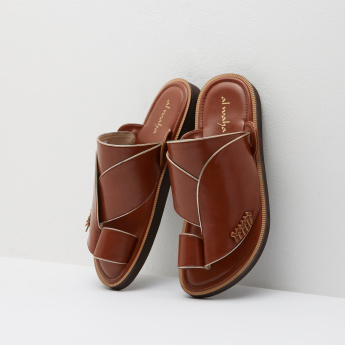 Al Waha Slip-On Arabic Sandals with Knot Detail