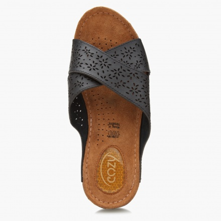 Cozy Cut-out Slip-on Sandals