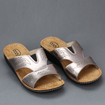 Cozy Metallic Slides with Laser Cut Detail