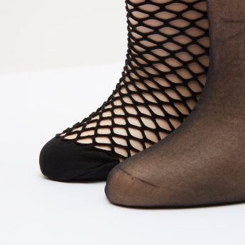 ELLE Socks with Ribbed Cuff - Set of 2