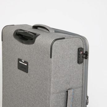 SWISSBRAND Textured Travelling Bag with Retractable Handle