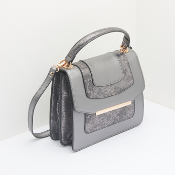 ELLE Textured Satchel Bag