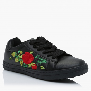 Missy Floral Print Lace-Up Sneakers