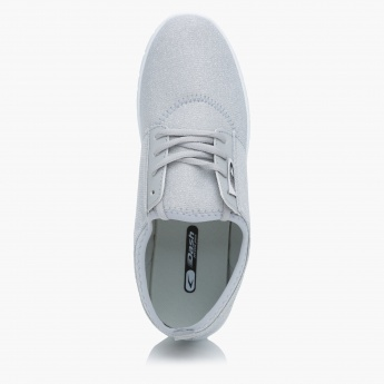 Dash Textured Lace-Up Sneakers