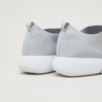 Textured Slip-On Walking Shoes