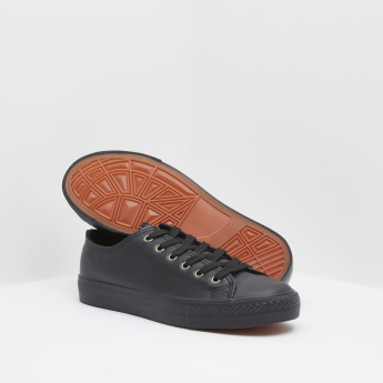Canvas Shoes with Lace-Up Closure