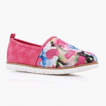 Missy Floral Print Slip-On Shoes