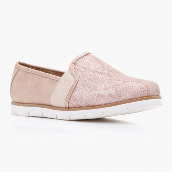 Missy Textured Slip-On Shoes