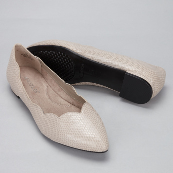 Aerosoles Textured Slip-On Shoes with Scallop Detail