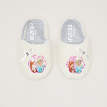 Princess Printed Bedroom Slides with Elasticised Backstrap