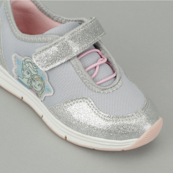 Frozen Appliqued Sneakers with Hook and Loop Closure