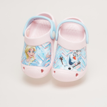 Frozen Printed Clogs with Slingback