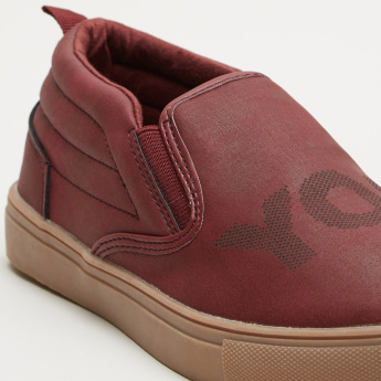 Stitch Detail Slip-On Shoes with Elasticised Gussets
