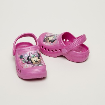 Minnie Mouse Printed Clogs with Backstrap