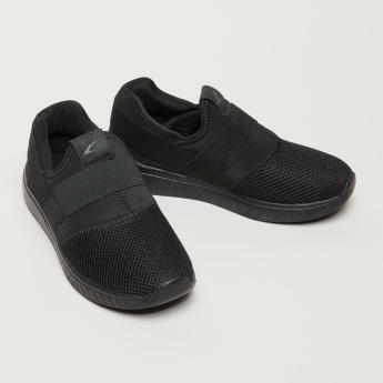 Textured Walking Shoes with Elasticised Band