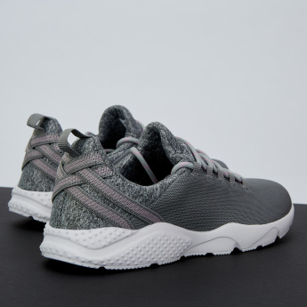 Dash Textured Sneakers with Lace-Up Closure