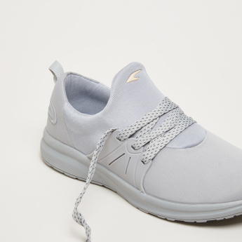 Lace-Up Sneakers with Logo Detail