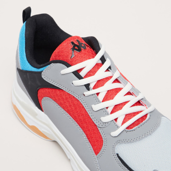 Kappa Colour Block Lace-Up Running Shoes