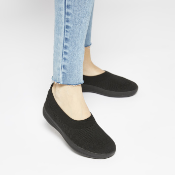 Fitflop Textured Shoes with Slip-On Closure