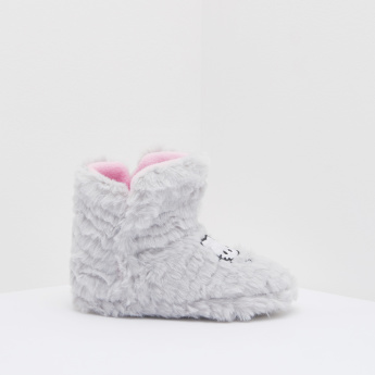 d141166a8 Hello Kitty Printed Plush Shoes | Grey | Comfort