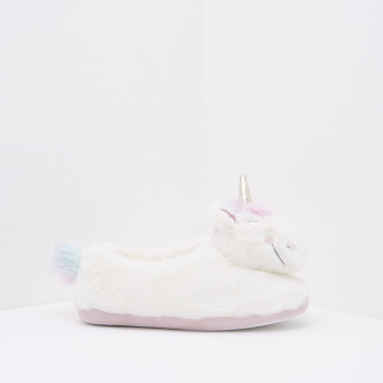 Bedroom Slippers with Unicorn Detail