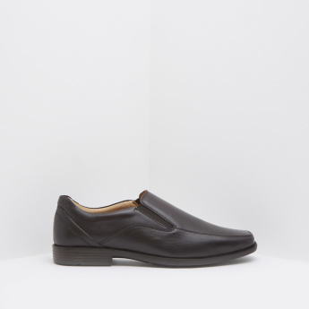 Slip-On Formal Loafers with Stitched Overlay