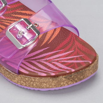 Missy Printed Slides with Buckle Closure