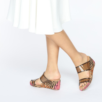 Missy Embroidered Wedges with Dual Straps