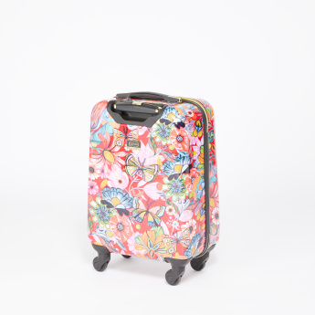 Mia Toro Floral Printed Travelling Bag with Hard Case